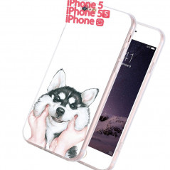 Coque silicone gel HUSKY Apple iPhone 5/5S/SE