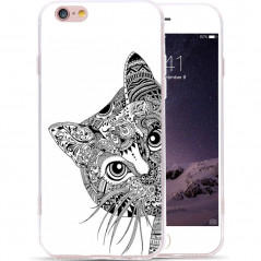 Coque silicone gel CHAT AZTEC Apple iPhone 6/6s