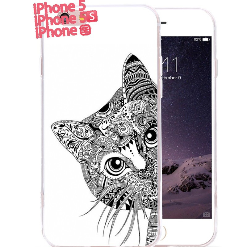 Coque silicone gel CHAT AZTEC Apple iPhone 5/5S/SE