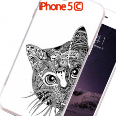 Coque rigide Chat Aztec Apple iPhone 5C