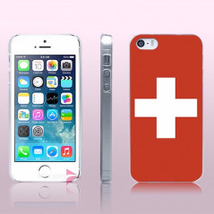 Coque rigide drapeau SUISSE Apple iPhone 5/5S/SE