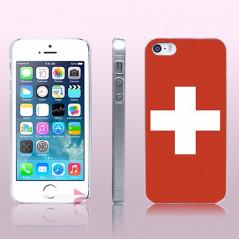Coque rigide drapeau SUISSE Apple iPhone 5/5S/SE