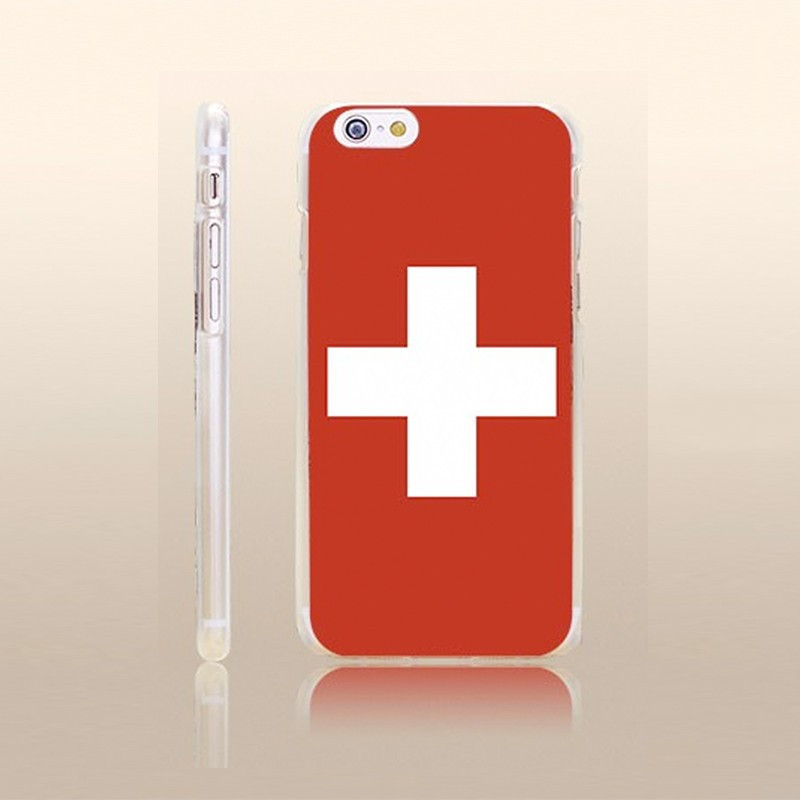 Coque rigide drapeau SUISSE Apple iPhone 6/6S Plus