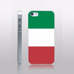 Coque rigide drapeau ITALIE Apple iPhone 5/5S/SE