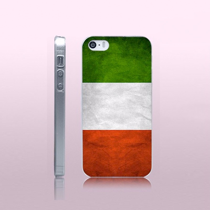 Coque rigide drapeau ITALIE Vintage Apple iPhone 5/5S/SE