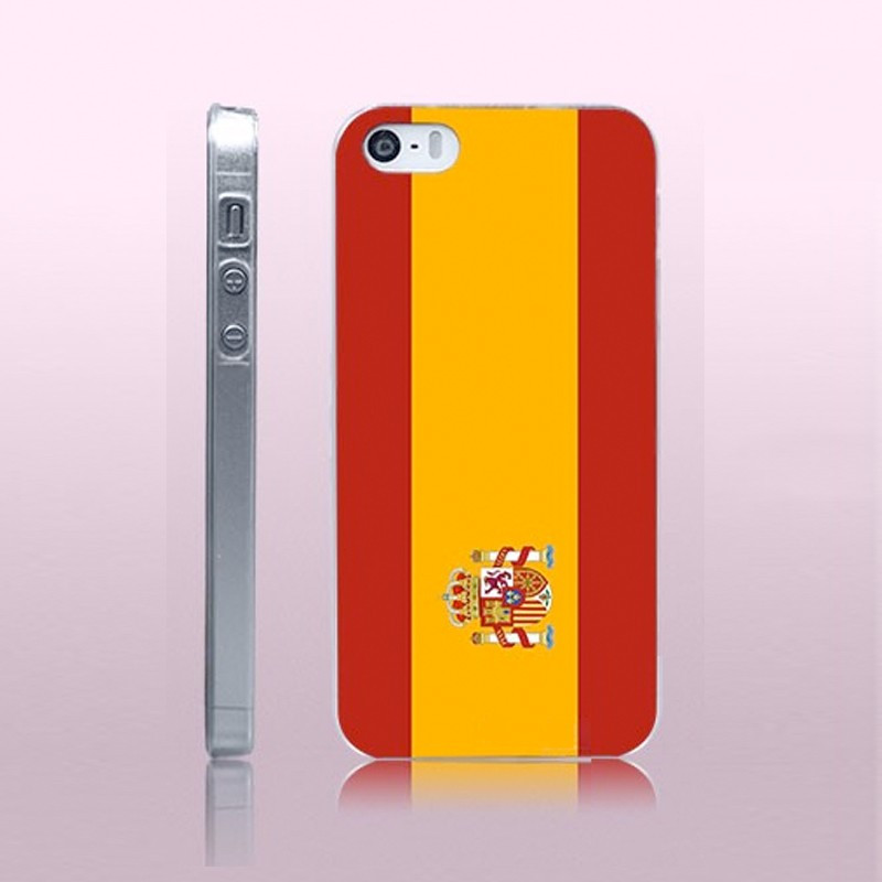 Coque rigide drapeau ESPAGNE Apple iPhone 5/5S/SE