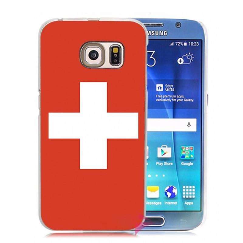 Coque rigide drapeau SUISSE Samsung Galaxy S6