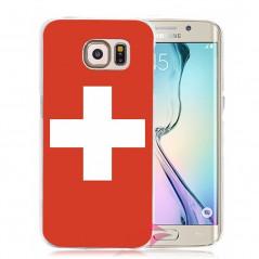 Coque rigide drapeau SUISSE Samsung Galaxy S6 Edge