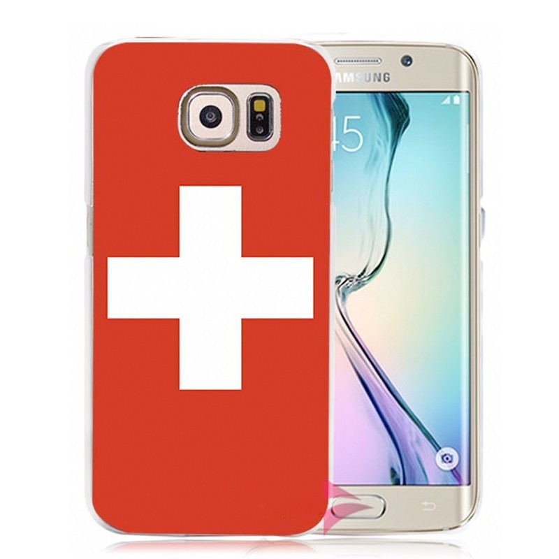 Coque rigide drapeau SUISSE Samsung Galaxy S6 Edge Plus