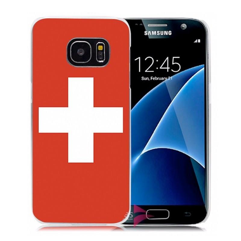Coque rigide drapeau SUISSE Samsung Galaxy S7
