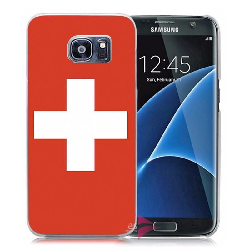 Coque rigide drapeau SUISSE Samsung Galaxy S7 Edge