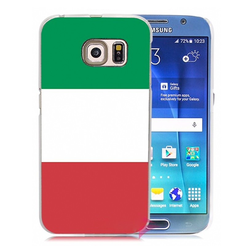 Coque rigide drapeau ITALIE Samsung Galaxy S6