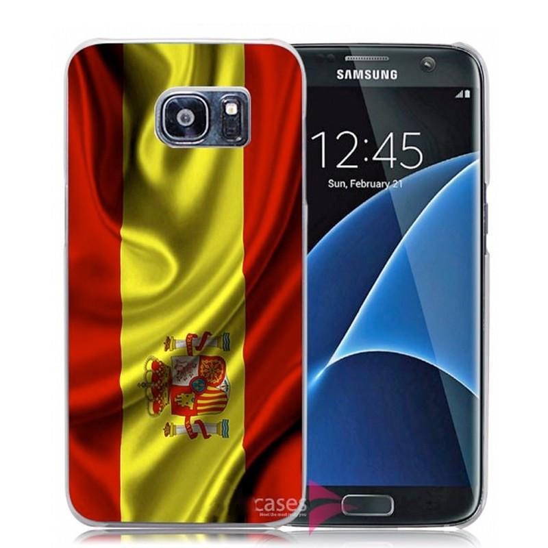 Coque rigide drapeau ESPAGNE Samsung Galaxy S7 Edge