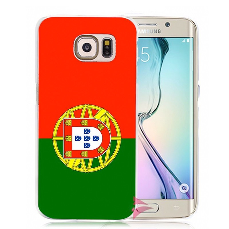 Coque rigide drapeau PORTUGAL Samsung Galaxy S6 Edge