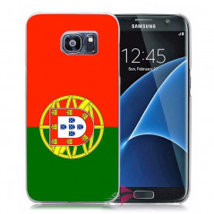 Coque rigide drapeau PORTUGAL Samsung Galaxy S7 Edge