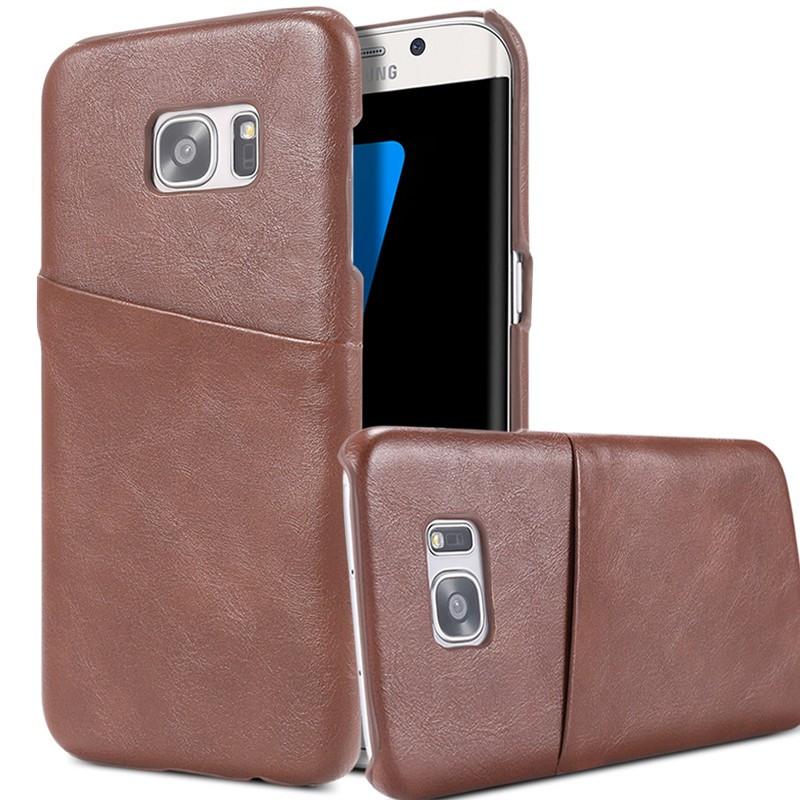 Coque VINTAGE COATED Samsung Galaxy S7 Edge Marron