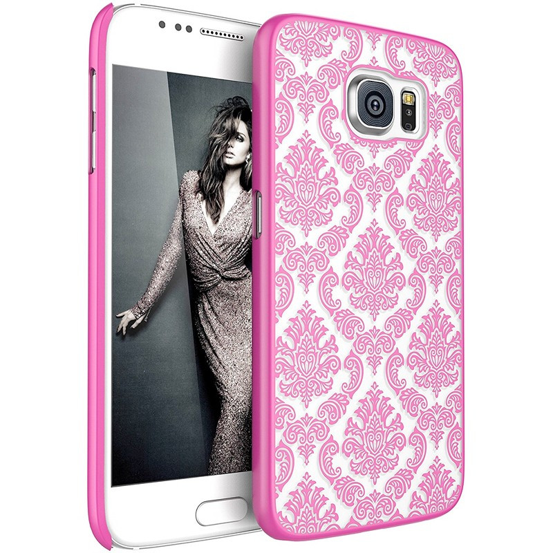 Coque DAMASK FLORA Samsung Galaxy S6 Rose