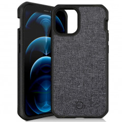 Coque rigide ITSKINS FERONIA BIO FIBER Apple iPhone 12/12 PRO Noir