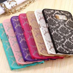 Coque rigide DAMASK FLORA Samsung Galaxy S6 Edge