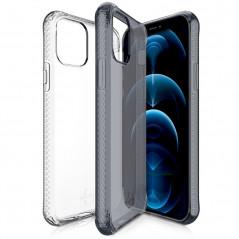 Coque souple ITSKINS NANO GEL DUO Apple iPhone 12/12 PRO Noir-Transparente