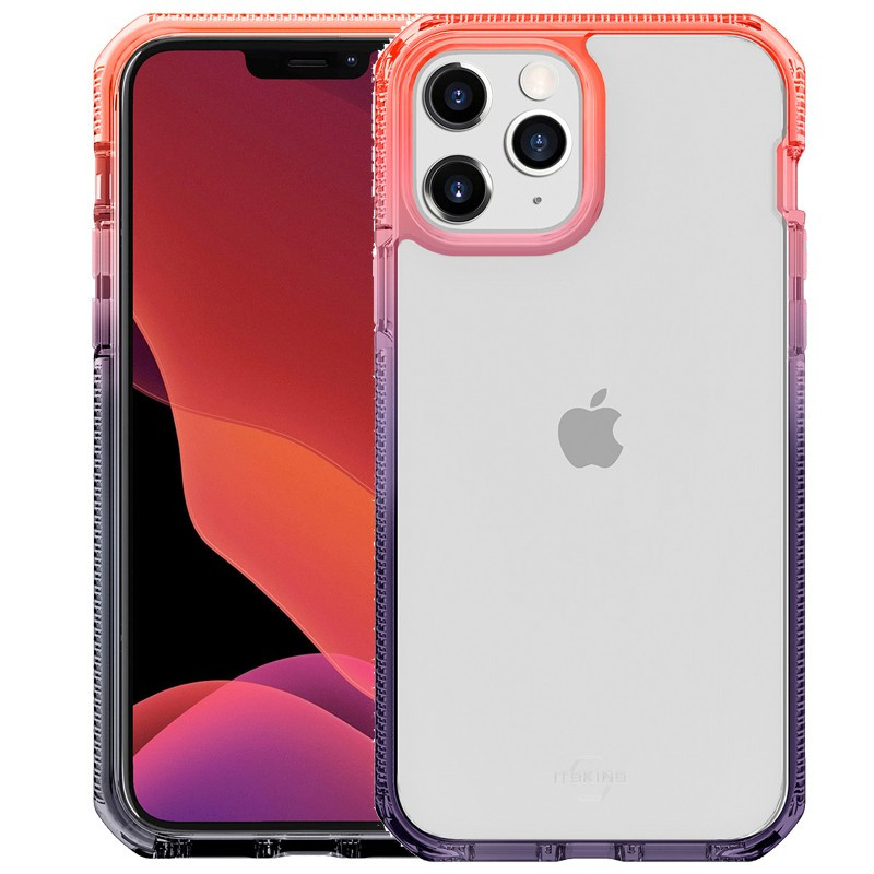 Coque rigide ITSKINS SUPREME PRISM Apple iPhone 12/12 PRO Orange (Coral-Noir)