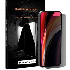 Protection écran verre trempé Eiger 3D GLASS PRIVACY Apple iPhone 12 Mini