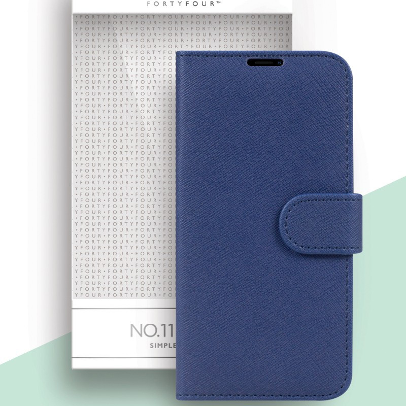 Etui folio FORTYFOUR No.11 Apple iPhone 12 Mini Bleu