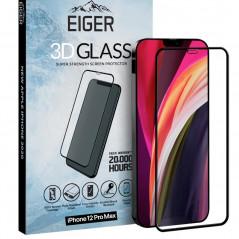 Protection écran verre trempé Eiger 3D GLASS CF Apple iPhone 12 PRO MAX