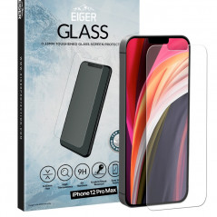 Protection écran verre trempé Eiger 2.5D GLASS SP Apple iPhone 12 PRO MAX