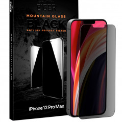 Protection écran verre trempé Eiger 3D GLASS PRIVACY Apple iPhone 12 PRO MAX