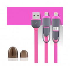 Câble USB 2-en-1 Lightning-microUSB