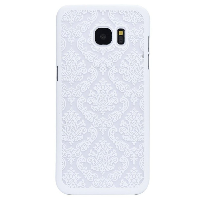 Coque rigide DAMASK FLORA Samsung Galaxy S7 Blanc