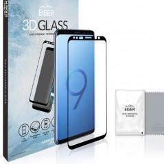 Protection écran verre trempé Eiger 3D GLASS CF Samsung Galaxy S9