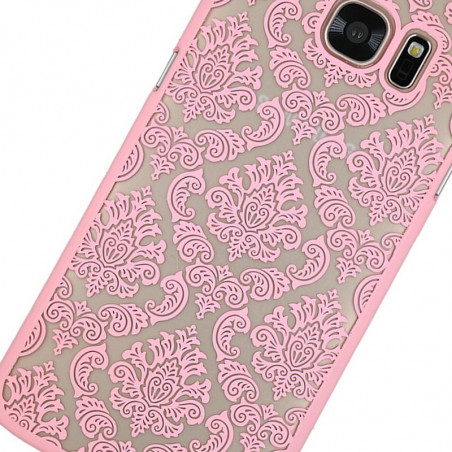 Coque rigide DAMASK FLORA Samsung Galaxy S7 Edge