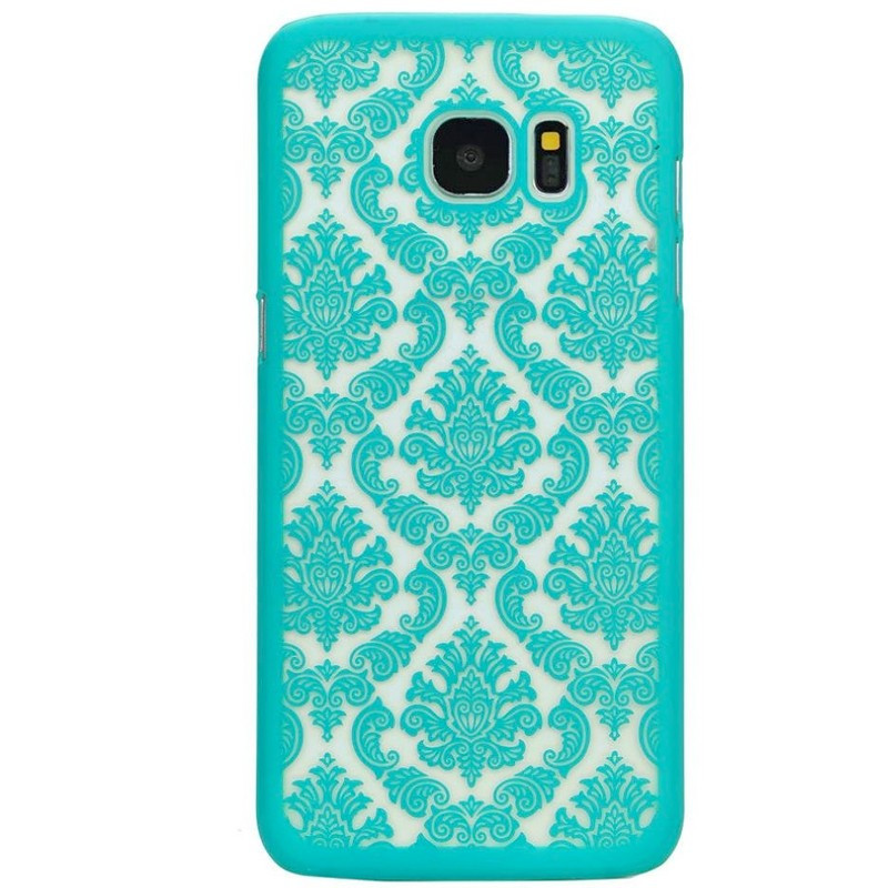 Coque rigide DAMASK FLORA Samsung Galaxy S7 Edge Vert