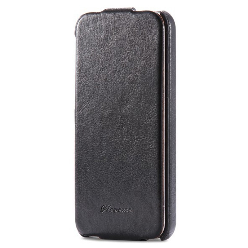 Etui flip vertical Vintage Apple iPhone 5/5S/SE Noir