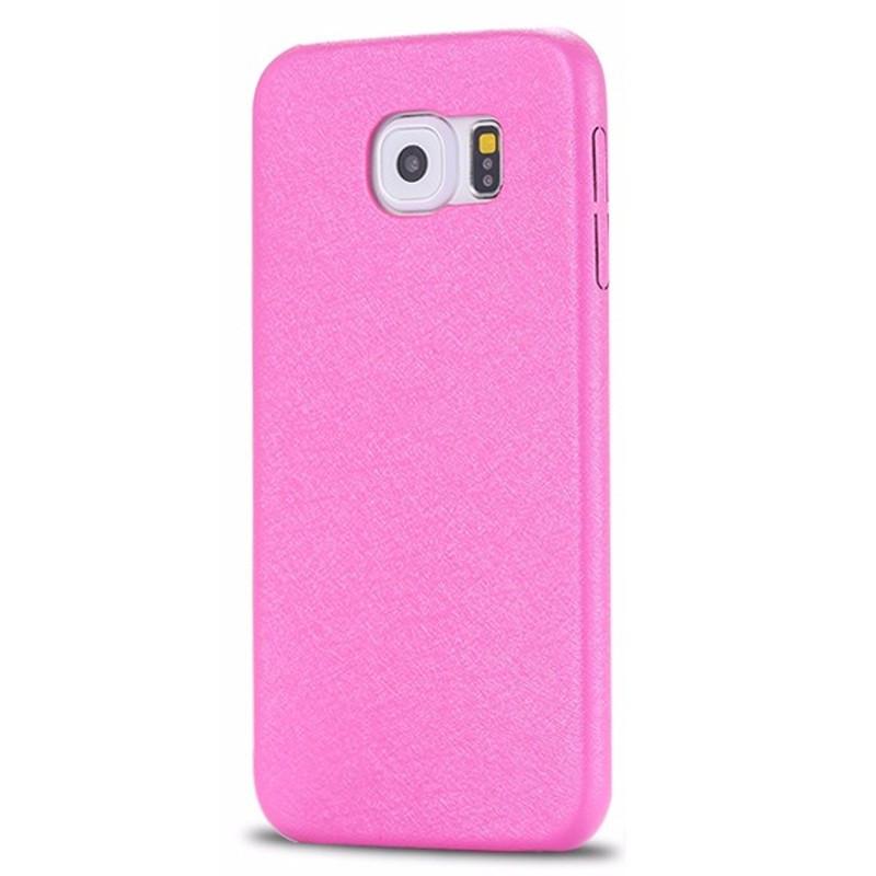 Coque SILK SKIN Samsung Galaxy S6 Rose