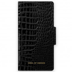 Etui Coque 2-en-1 iDeal of Sweden Neo Black Croco Atelier Wallet Series Apple iPhone 7/8/6S/6/SE 2020