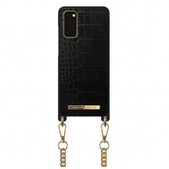 Coque bandoulière iDeal of Sweden Jet Black Croco Samsung Galaxy S20/S20 5G