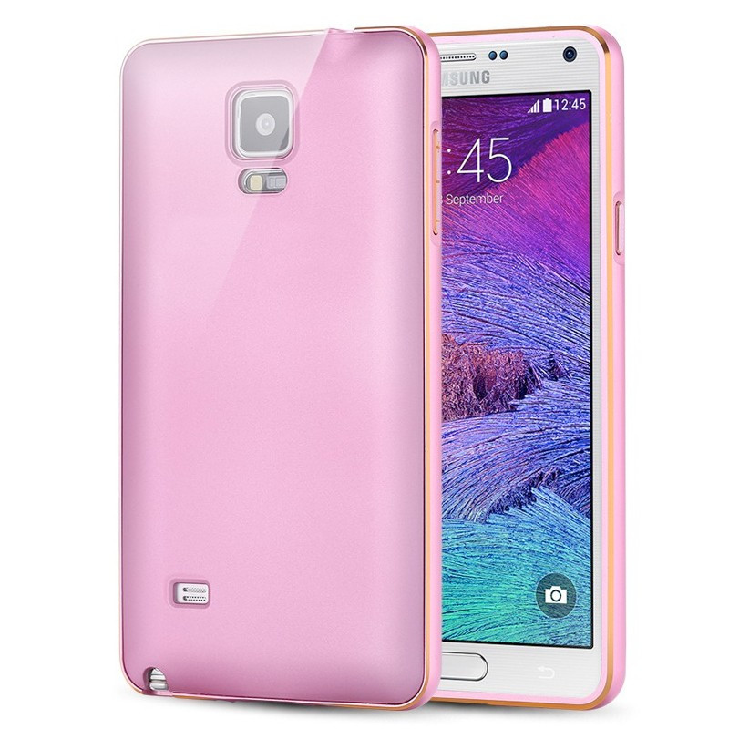 Coque aluminium Samsung Galaxy Note 4 Rose