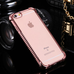 Coque silicone gel PLATING FRAME Apple iPhone 6/6S
