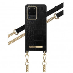 Coque bandoulière iDeal of Sweden Jet Black Croco Samsung Galaxy S20 Ultra 5G