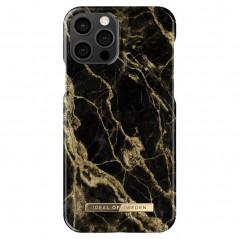 Coque rigide iDeal of Sweden Golden Smoke Marble Apple iPhone 12/12 PRO