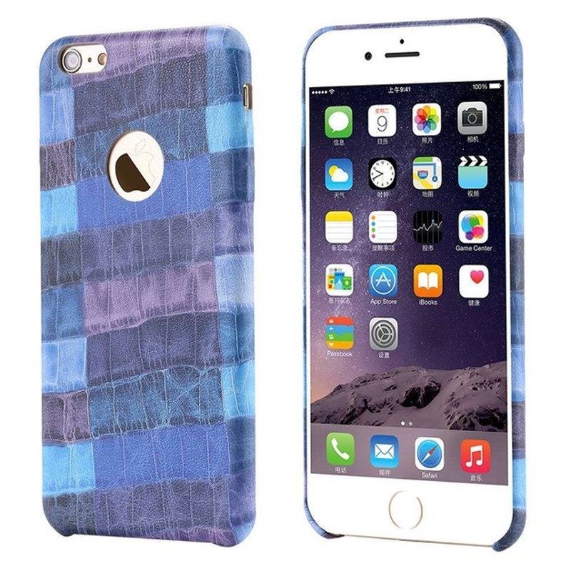 Coque CROCO GRAIN Series Apple iPhone 6/6s Bleu