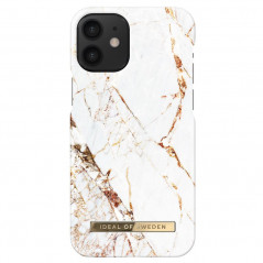 Coque rigide iDeal of Sweden Carrara Gold Apple iPhone 12 MINI