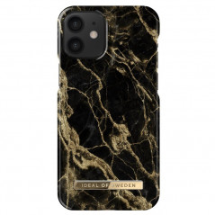 Coque rigide iDeal of Sweden Golden Smoke Marble Apple iPhone 12 MINI