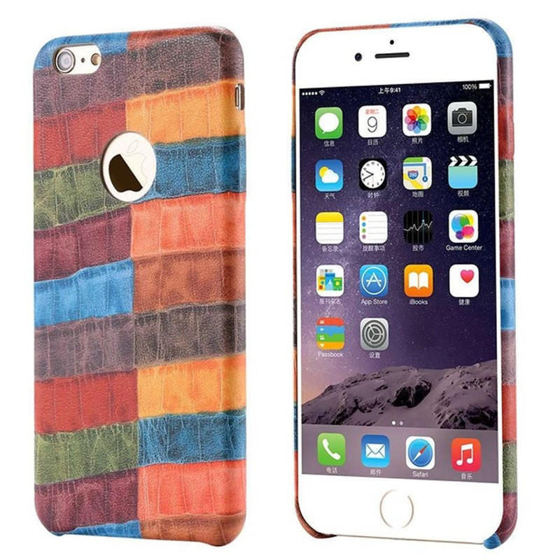 Coque CROCO GRAIN Series Apple iPhone 6/6s Plus Multicouleur