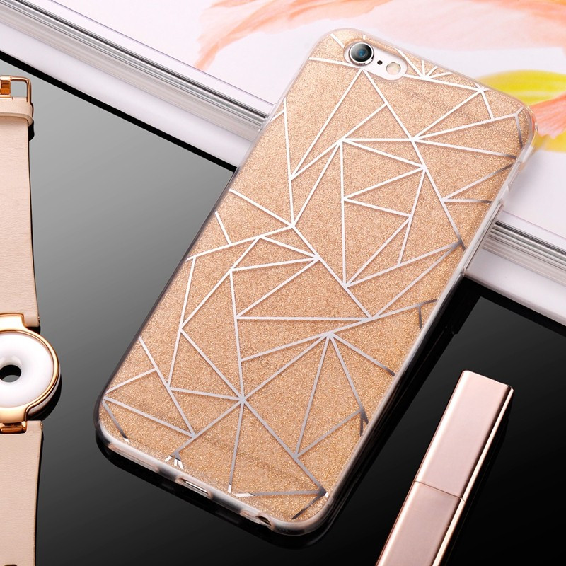 Coque POWDER GEOMETRY Apple iPhone 6/6S Or