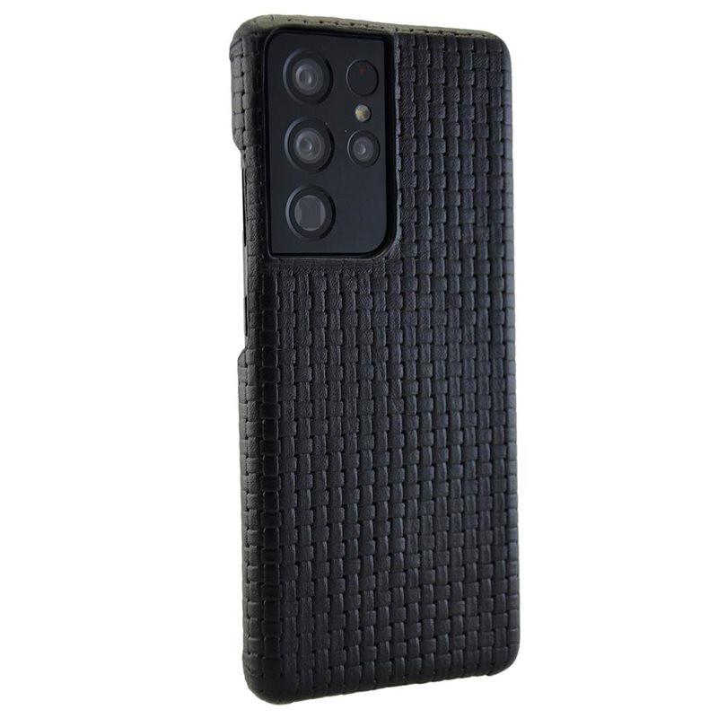 Coque cuir Mike Galeli GINO Series Samsung Galaxy S21 Ultra 5G Noir