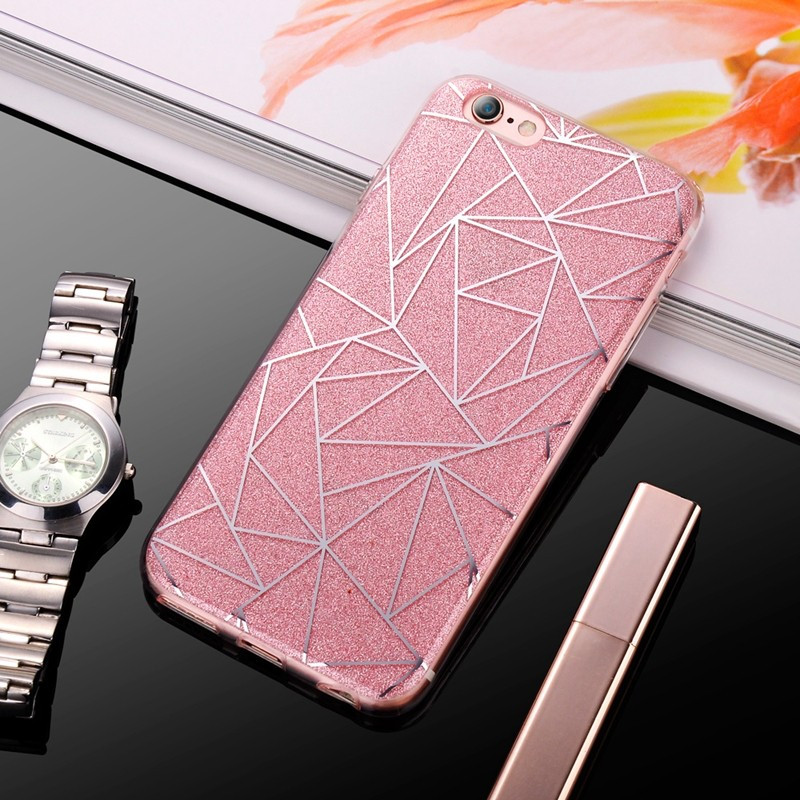 Coque POWDER GEOMETRY Apple iPhone 6/6S Plus Rose